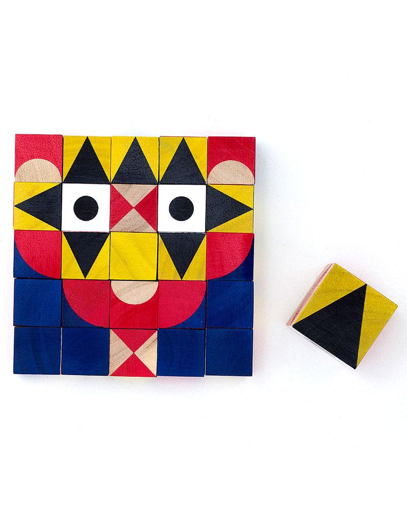 Miller Goodman Mini ShapeMaker: 25 Mini Printed Wooden Cubes For  Stimulating Creativity (travel