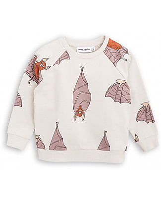 Mini Rodini Bats Sweater, Light Grey - Organic cotton Sweatshirts