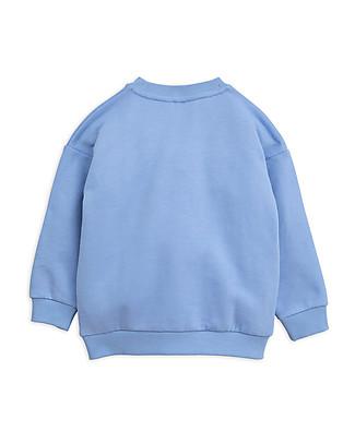 Mini Rodini Cheercat sp Sweatshirt, Blue - 100% Organic Cotton Sweatshirts