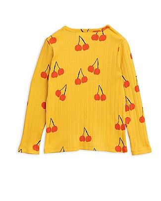 Mini Rodini Cherry Long Sleeves Tee, Yellow - 100% Organic cotton Long Sleeves Tops