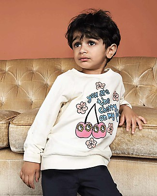 Mini Rodini Cherry Sweater - Organic cotton Sweatshirts