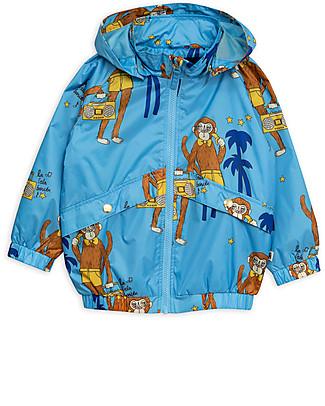 Mini Rodini Cool Monkey Sporty Jacket, Pale Blue - 100% recycled fabric! Jackets