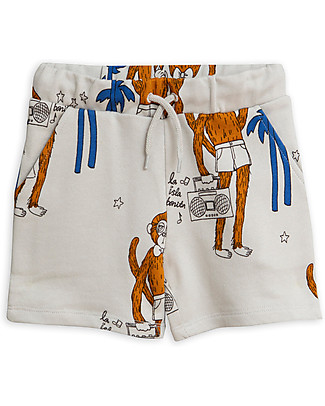 Mini Rodini Cool Monkey Sweatshorts, Grey - 100% Organic Cotton Shorts