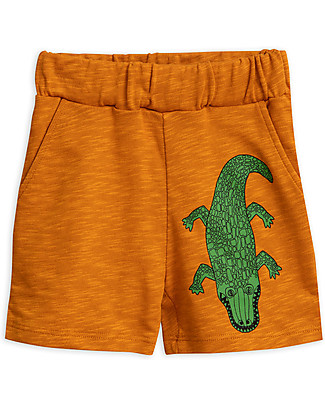Mini Rodini Crocco Sweatshorts, Brown - Organic Cotton and micromodal Shorts