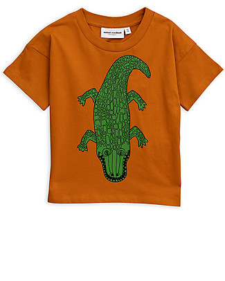 Mini Rodini Crocco T-Shirt, Brown - Organic cotton T-Shirts And Vests