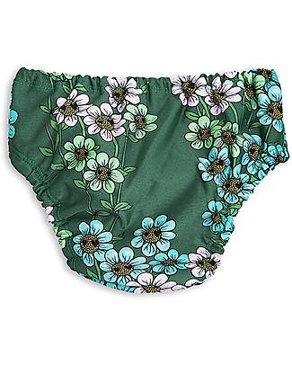 Mini Rodini Daisy Baby Girl's Swimpants, Dark Green - UPF 50+ Swimming Trunks