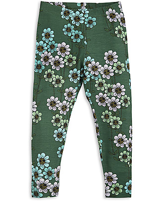 Mini Rodini Daisy Leggings, Dark Green - Eco-friendly! Leggings
