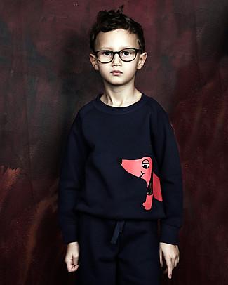 Mini Rodini Dog Sweater, Navy - 100% organic cotton Sweatshirts