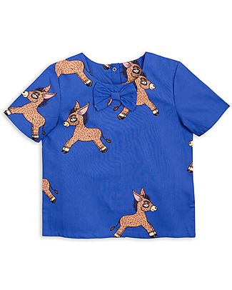 Mini Rodini Donkey T-Shirt, Blue - 100% Organic cotton Evening Tops