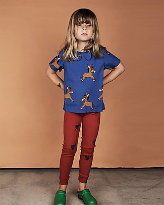 Mini Rodini Donkey T-Shirt, Blue - 100% Organic cotton T-Shirts And Vests