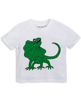Mini Rodini Draco T-Shirt, Bianco/Verde - Organic cotton T-Shirts And Vests