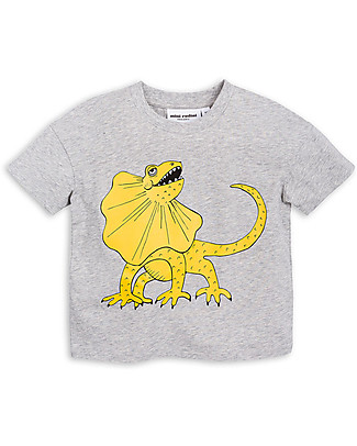 Mini Rodini Draco T-Shirt, Grey/Yellow - Organic cotton T-Shirts And Vests