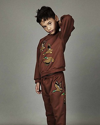 Mini Rodini Duck Sweatshirt, Brown - 100% Organic Cotton, fair-trade Sweatshirts
