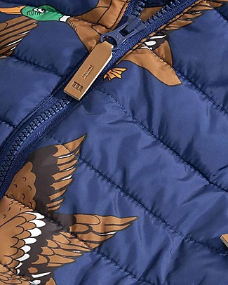 Mini Rodini Ducks Insulator Baby Overall, Navy - 100% Recycled Fabric Coats