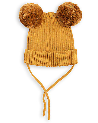 Mini Rodini Ear Beanie Hat, Beige - 100% organic cotton Winter Hats