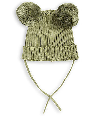 Mini Rodini Ear Beanie Hat, Green - 100% organic cotton Winter Hats