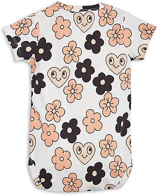 Mini Rodini Flowers Short Sleeves Bodysuit, Off White - Organic cotton Short Sleeves Bodies