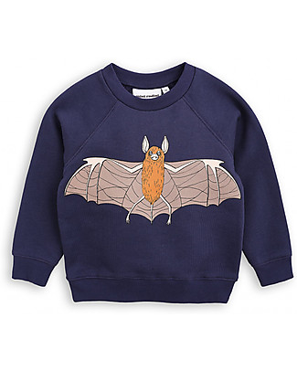 Mini Rodini Flying Bat Sweater, Navy - 100% organic cotton Long Sleeves Tops