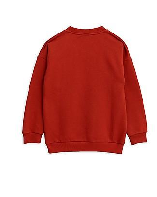Mini Rodini Flying Birds Sweatshirt, Red - 100% Organic Cotton Sweatshirts