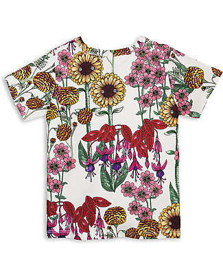 Mini Rodini Garden T-Shirt, Off White/Multicoloured - Organic Cotton T-Shirts And Vests