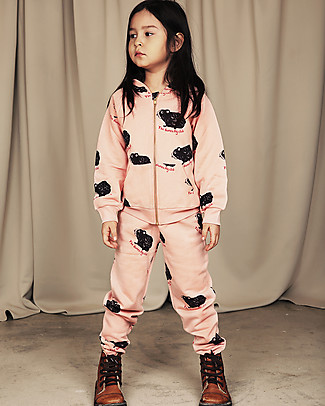 Mini Rodini Guinea Pig Sweatpants, Pink - 100% Organic Cotton Trousers
