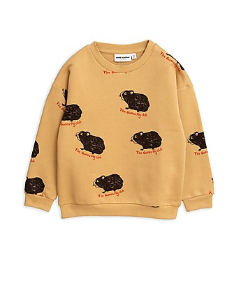 Mini Rodini Guinea Pig Sweatshirt, Beige - 100% Organic Cotton Sweatshirts