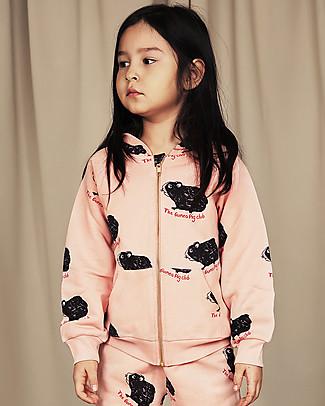 Mini Rodini Guinea Pig Zip Hoodie, Pink - 100% organic cotton Sweatshirts