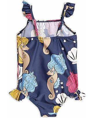 Mini Rodini Horse Skirt Swimsuit, Navy - UPF 50+ Swimsuits