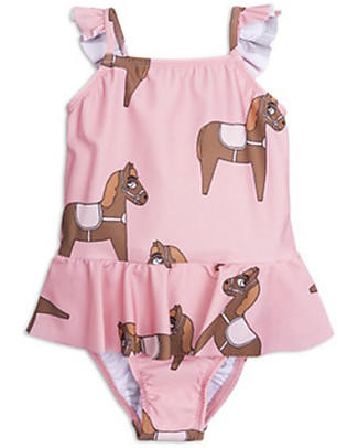 Mini Rodini Horse Skirt Swimsuit, Pink - UPF 50+ Swimsuits
