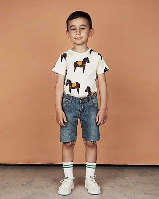 Mini Rodini Horses T-Shirt, Yellow - 100% Organic cotton T-Shirts And Vests