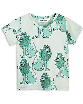 Mini Rodini Lions T-Shirt, Light Grey - Organic Cotton T-Shirts And Vests