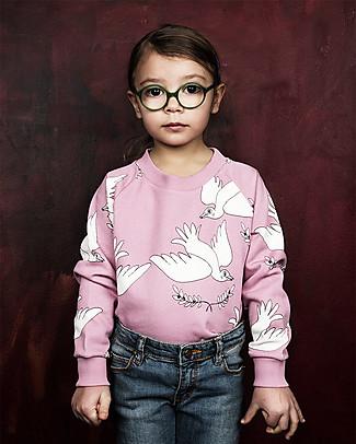 Mini Rodini Peace Sweater, Pink - 100% organic cotton, fair-trade Sweatshirts
