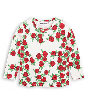 Mini Rodini Rose Long Sleeves T-Shirt, Roses - Organic cotton! Long Sleeves Tops