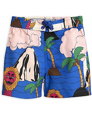 Mini Rodini Seamonster Swimshorts - 100% Recycled Fabric Swimming Trunks