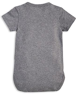 Mini Rodini Short Sleeved Bodysuit, Lion, Grey Melange – Stretchy organic cotton Short Sleeves Bodies