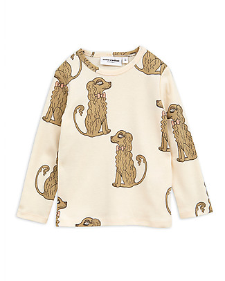 Mini Rodini Spaniel Long Sleeved Tee, Pink - Organic Cotton Sweatshirts