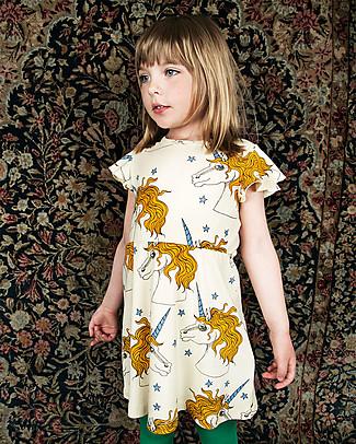 Mini Rodini Unicorn Star Wing Dress, Off-White - 100% organic cotton Dresses
