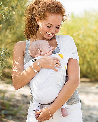 Minimonkey Baby Mini Sling, White - Lightweight Baby Slings