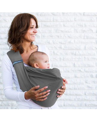 Minimonkey Baby Sling 4 in 1 - 100% Cotton - Grey Baby Slings