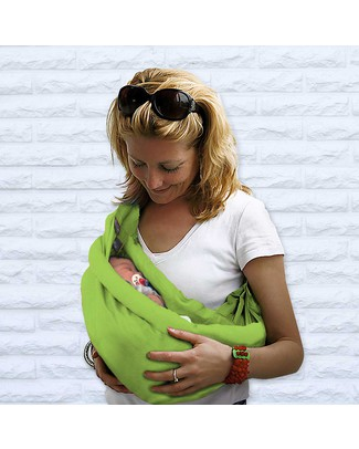 Minimonkey Baby Sling 4 in 1 - 100% Cotton - Lime Baby Slings
