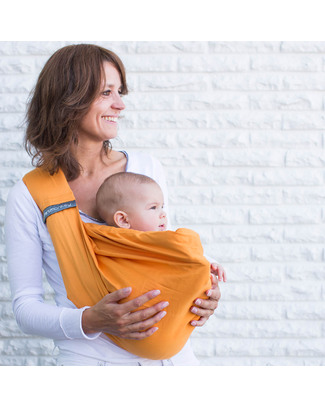 Minimonkey Baby Sling 4 in 1 - 100% Cotton - Orange Baby Slings