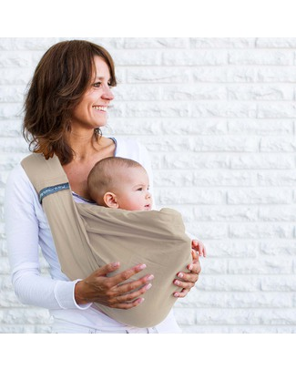 Minimonkey Baby Sling 4 in 1 - 100% Cotton - Sand Baby Slings
