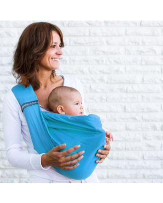 Minimonkey Baby Sling 4 in 1 - 100% Cotton - Turquoise Baby Slings