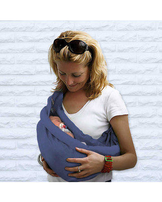 Minimonkey Baby Sling 4 in 1 - 100% Organic Cotton - Country Blue Baby Slings