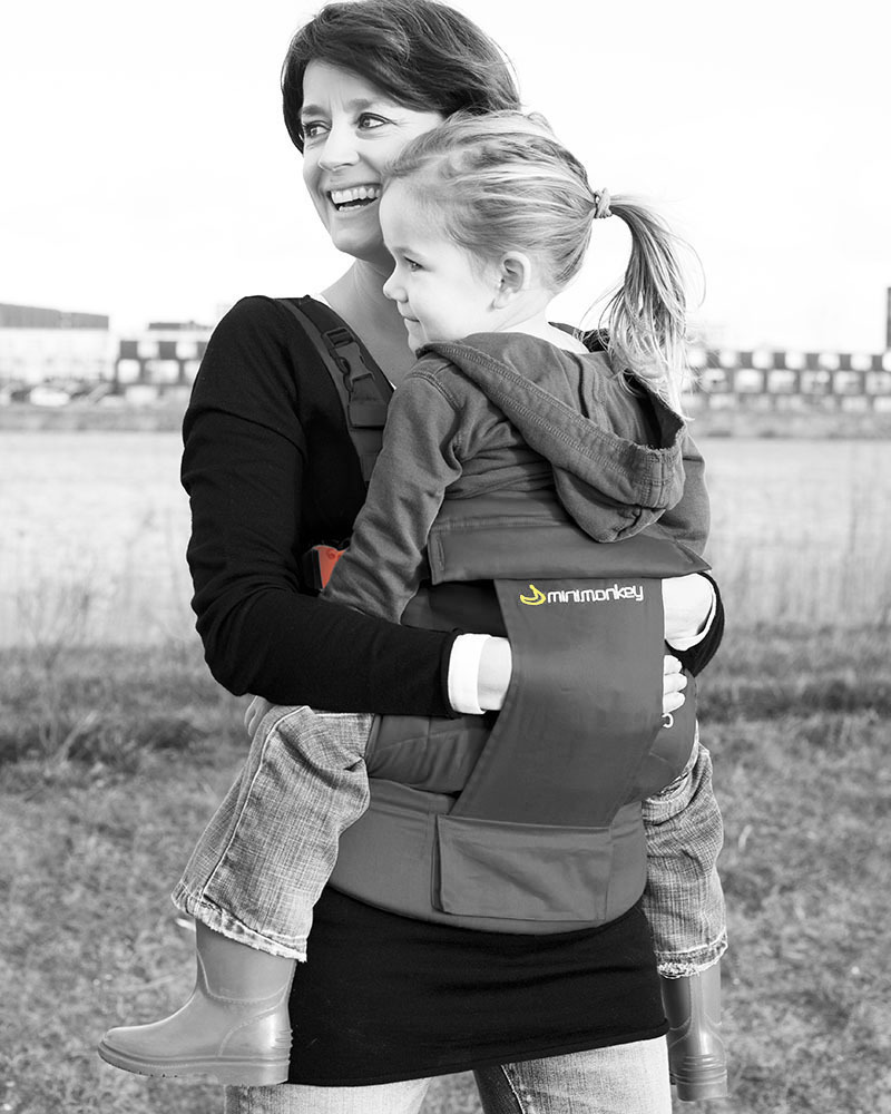 32a28ec15fa Minimonkey Ergonomic Baby Carrier - Grey - 4 in 1 Carrier (from birth