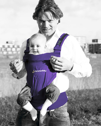 Minimonkey Ergonomic Baby Carrier - Purple - 4 in 1 Carrier (from birth, light and no backache!) Baby Carriers