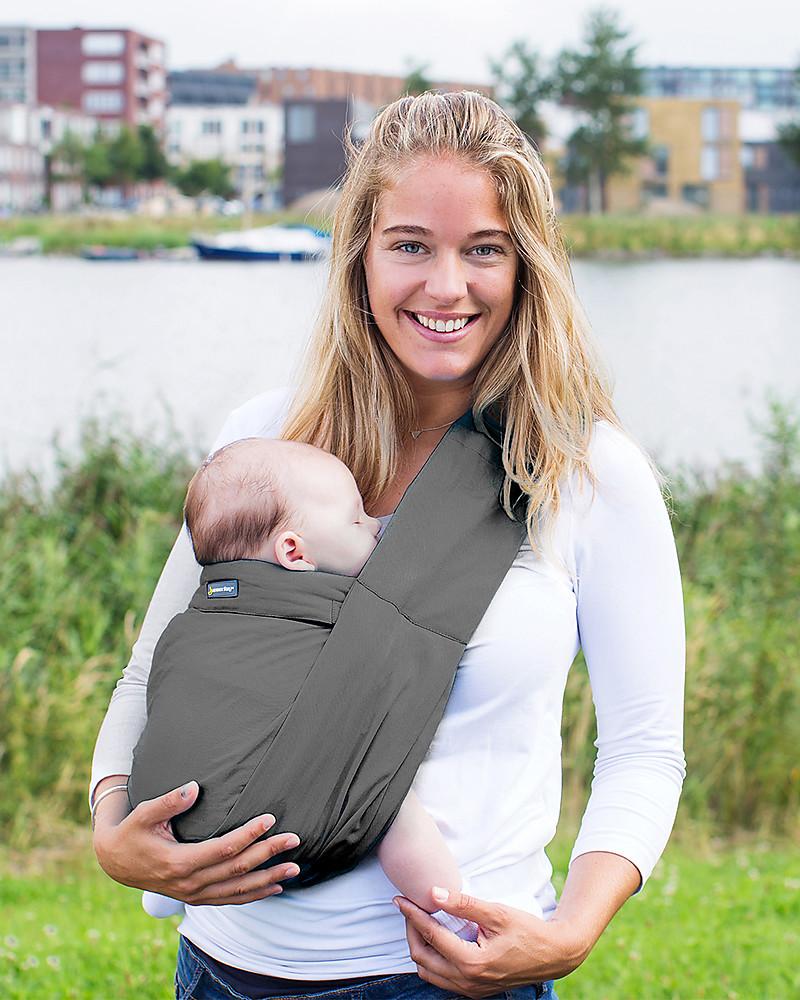 90cf4d94c2c Minimonkey Ergonomic Babysling 7 in 1 - Unlimited - 100% Coton - Dark Grey  Baby