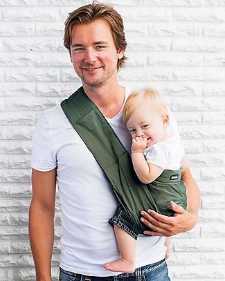 Minimonkey Ergonomic Babysling 7 in 1 - Unlimited - 100% Coton - Military Green/Orange Baby Slings