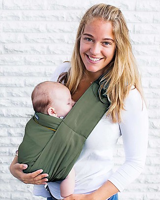 Minimonkey Ergonomic Babysling 7 in 1 - Unlimited - 100% Coton - Military Green/Orange Baby Slings