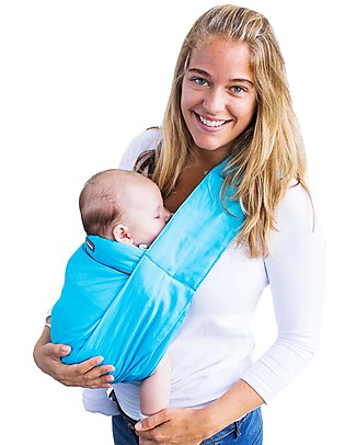 Minimonkey Ergonomic Babysling 7 in 1 - Unlimited - 100% Coton -  Turquoise/Grey Baby Slings